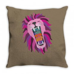Wild Side Hippies Throw Pillow | Artistshot