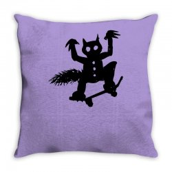 wild thing on a skateboard Throw Pillow | Artistshot