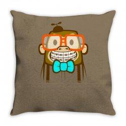 geek monkey Throw Pillow | Artistshot