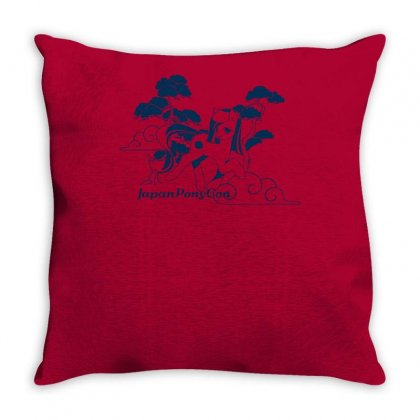 Poniko Among Bonsai Trees Throw Pillow Designed By Specstore