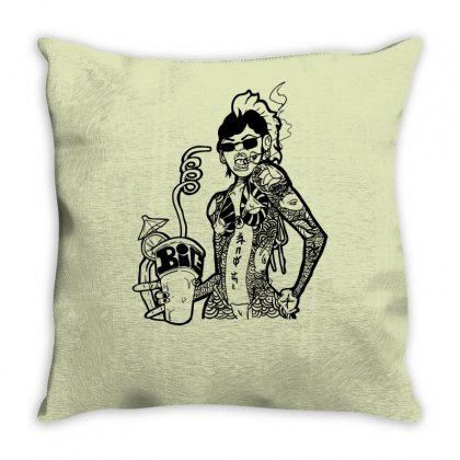 Yakuza Punch Throw Pillow Designed By Specstore