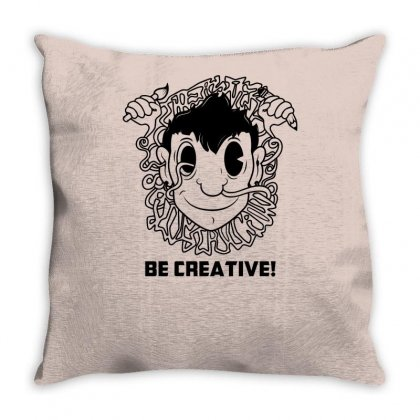 Be Creative Throw Pillow Designed By Specstore