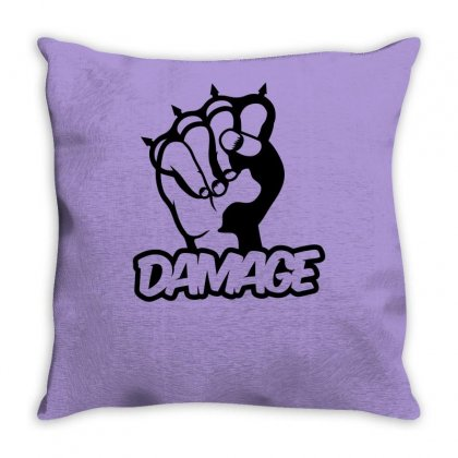 Damage Punch Throw Pillow Designed By Specstore