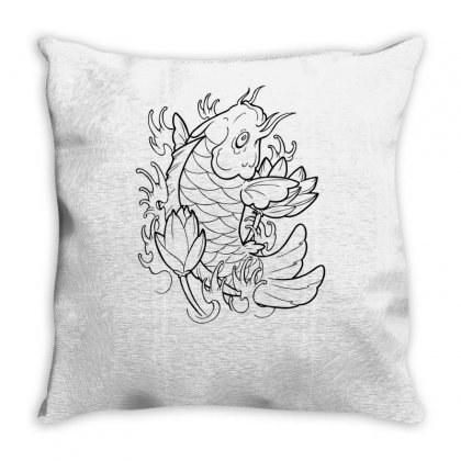 Goldfish Of Heaven Throw Pillow Designed By Specstore