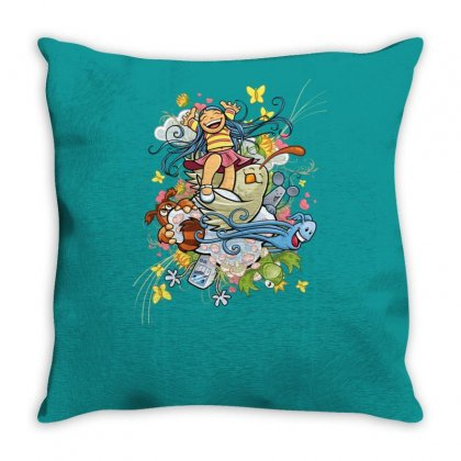 Happy Day Adventure Throw Pillow Designed By Specstore