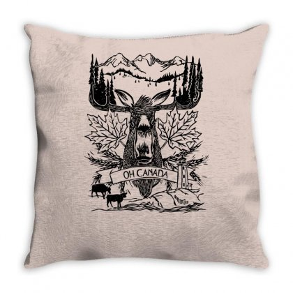 Oh Canada Throw Pillow Designed By Specstore