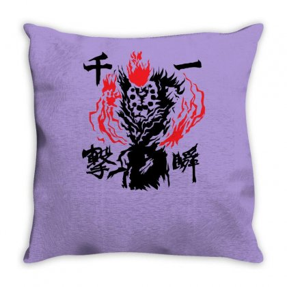 Raging Demon Throw Pillow Designed By Specstore