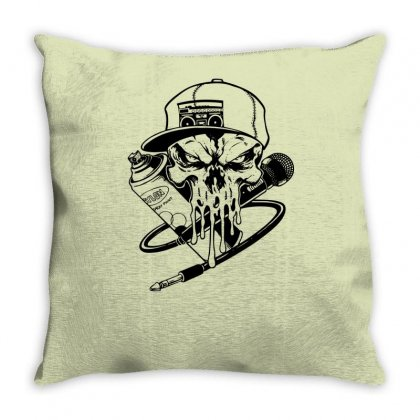 Skull Artis Throw Pillow Designed By Specstore