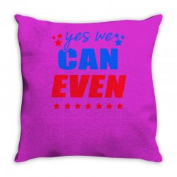 Yes We Can Even Throw Pillow | Artistshot