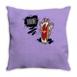 Angry Boss Screaming Deadline Throw Pillow | Artistshot