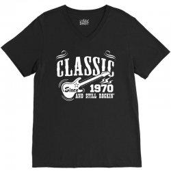 Classic Since 1970 V-Neck Tee | Artistshot
