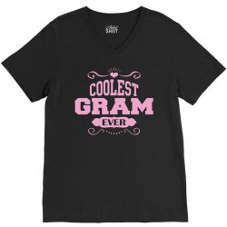 Coolest Gram Ever V-Neck Tee | Artistshot