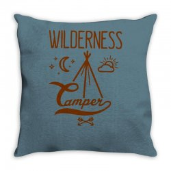 wilderness camper Throw Pillow | Artistshot