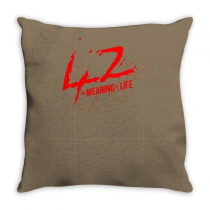 42 The Meaning Life Throw Pillow Designed By Specstore