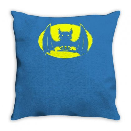Bat Moon Throw Pillow Designed By Specstore
