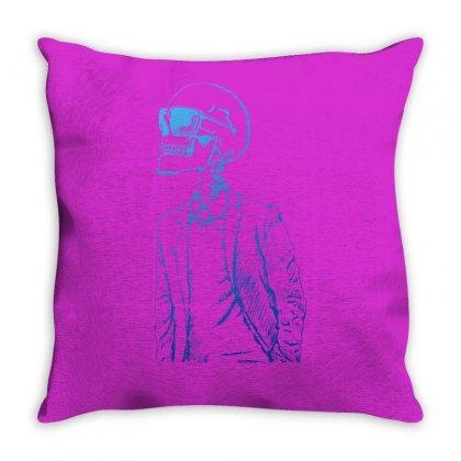 Gentleman Skull Throw Pillow Designed By Specstore