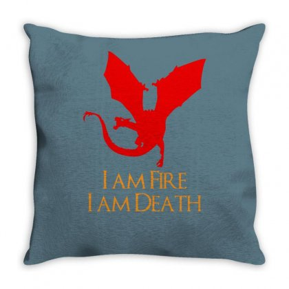 I Am Fire I Am Death Throw Pillow Designed By Specstore