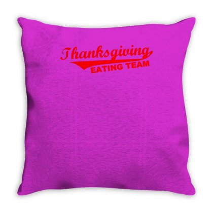 Thanksgiving Eating Team Throw Pillow Designed By Meid4_art