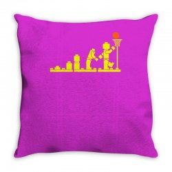 evolution lego basketball sports funny Throw Pillow | Artistshot