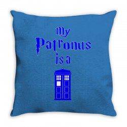 my patronus is a tardis Throw Pillow | Artistshot