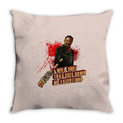Negan Throw Pillow Designed By Vr46