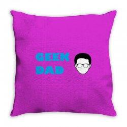 geek dad Throw Pillow | Artistshot