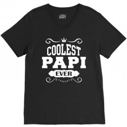 Coolest Papi Ever V-Neck Tee | Artistshot
