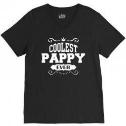 Coolest Pappy Ever V-Neck Tee | Artistshot