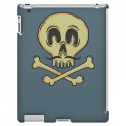 funny skull mustache iPad 3 and 4 Case | Artistshot