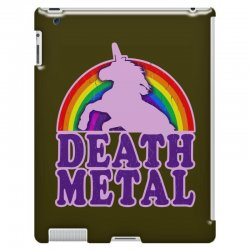 funny death metal unicorn rainbow iPad 3 and 4 Case | Artistshot