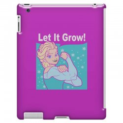 funny gym elsa let it grow frozen fitness iPad 3 and 4 Case | Artistshot