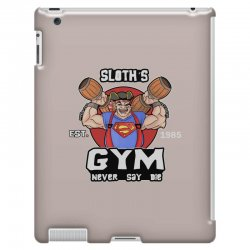 funny gym sloth the goonies fitness t shirt vectorized iPad 3 and 4 Case | Artistshot