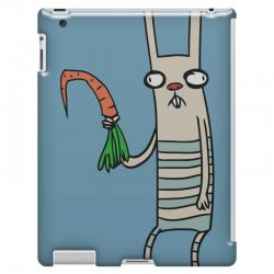 funny rabbit bunny holding a carrot iPad 3 and 4 Case | Artistshot