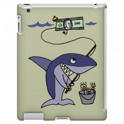funny shark fishing for humans iPad 3 and 4 Case | Artistshot