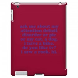 Funny ADHD quote iPad 3 and 4 Case | Artistshot