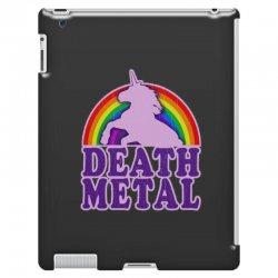 Funny Death Metal Unicorn Rainbow iPad 3 and 4 Case | Artistshot
