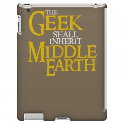 geek shall inherit middle earth iPad 3 and 4 Case   Artistshot