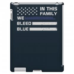 in this family we bleed blue funny iPad 3 and 4 Case | Artistshot