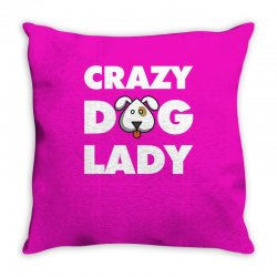Crazy Dog Lady Throw Pillow | Artistshot