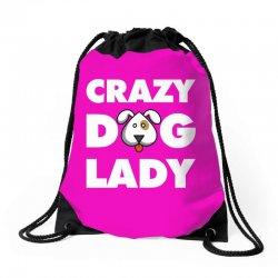 Crazy Dog Lady Drawstring Bags | Artistshot