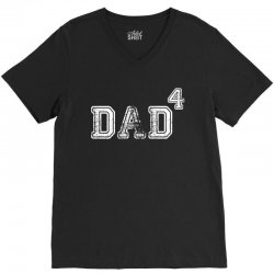 Dad to the Second Power ( dad of 4 ) V-Neck Tee | Artistshot