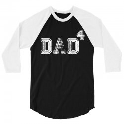 Dad to the Second Power ( dad of 4 ) 3/4 Sleeve Shirt | Artistshot