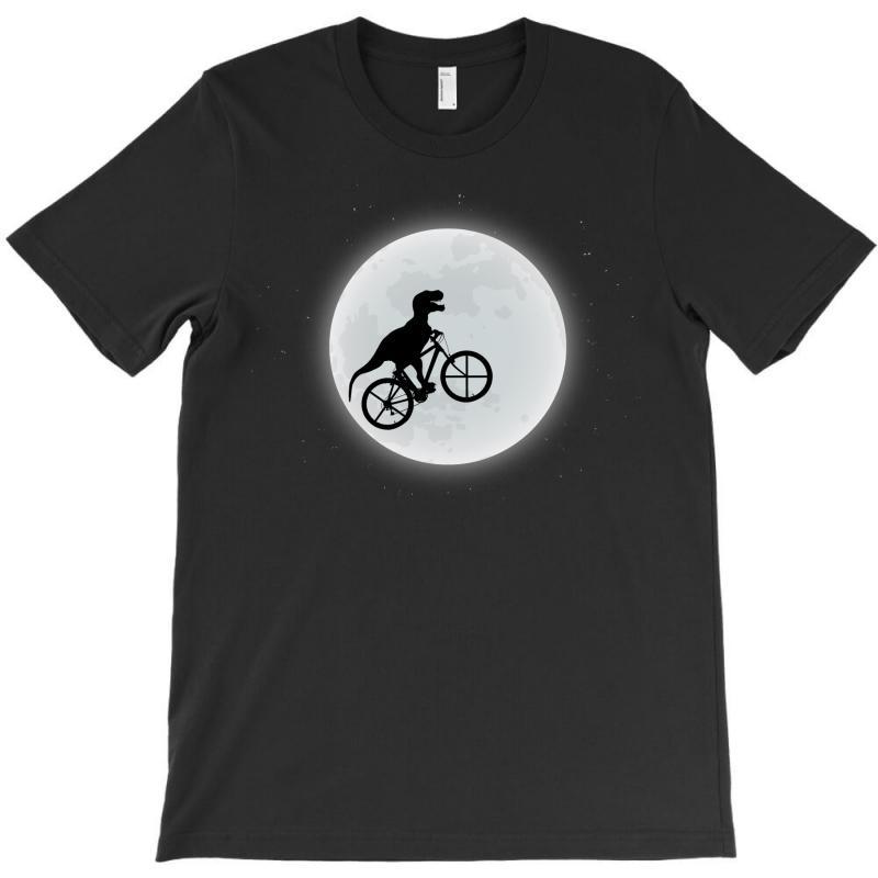 Dinosaur Riding A Bike To The Moon T-shirt   Artistshot