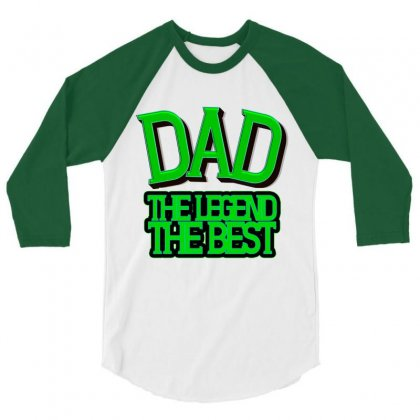 Dad 3/4 Sleeve Shirt Designed By Frg