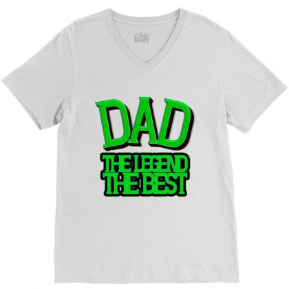 Dad V-neck Tee Designed By Frg
