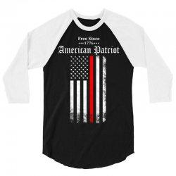 Free Since 1776 - American Patriot 3/4 Sleeve Shirt | Artistshot