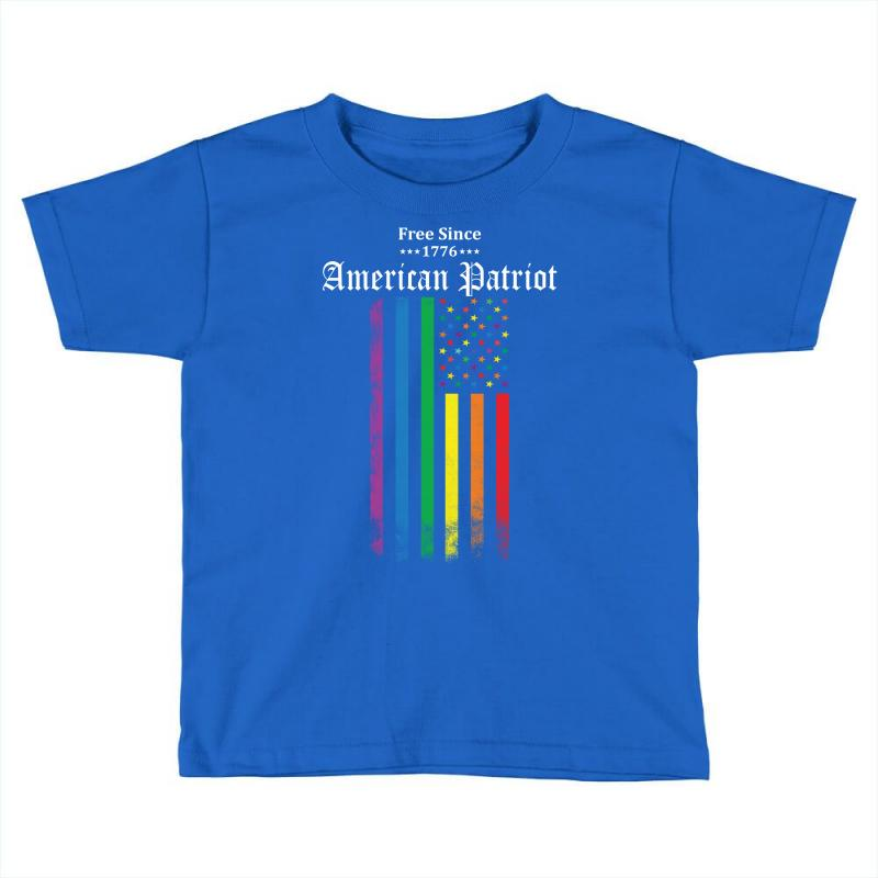 Free Since 1776 - American Patriot Toddler T-shirt  By Artistshot