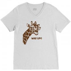 Giraffe Was Up V-Neck Tee | Artistshot
