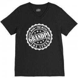 Grandpa The Man The Myth The Legend V-Neck Tee | Artistshot