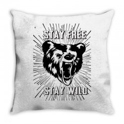 Stay Free Stay Wild Throw Pillow | Artistshot